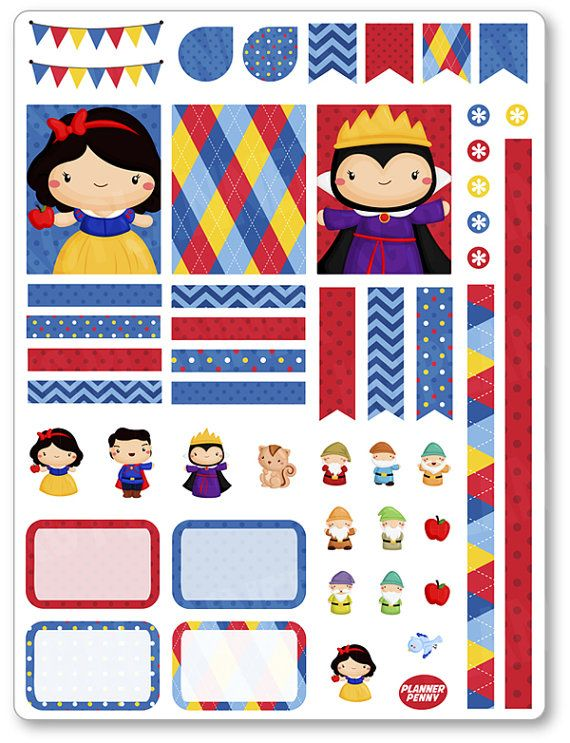 Dwarf Friends Decorating Kit / Weekly Spread Planner Stickers for Erin Condren…