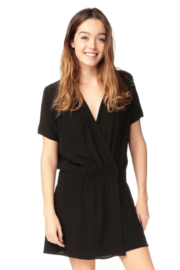 Robe noire portefeuille Grace Clo&Se by MonShowroom sur MonShowroom.com