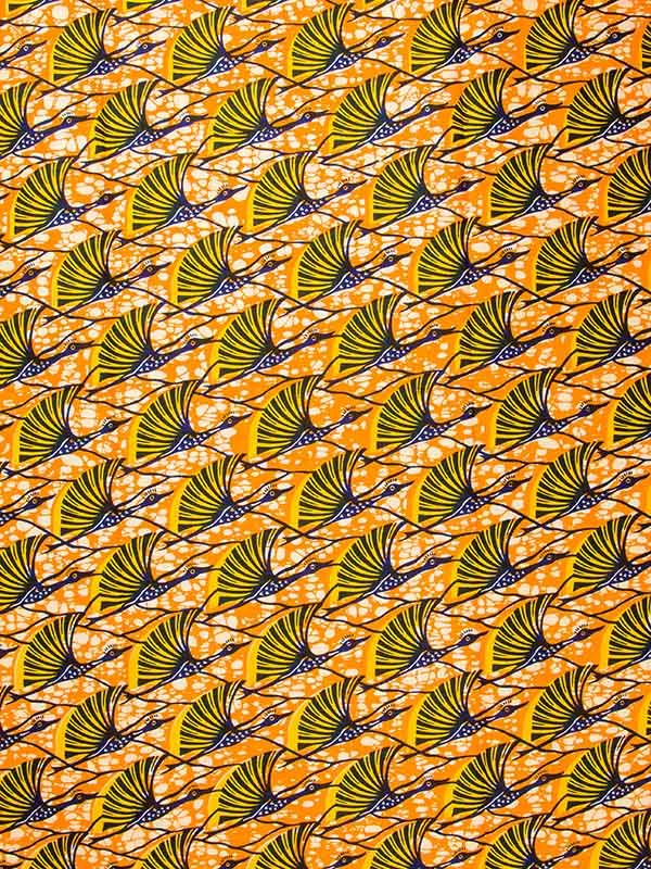 Pagne africain Real Wax Hollandais 100% Coton - 6 yards a0565
