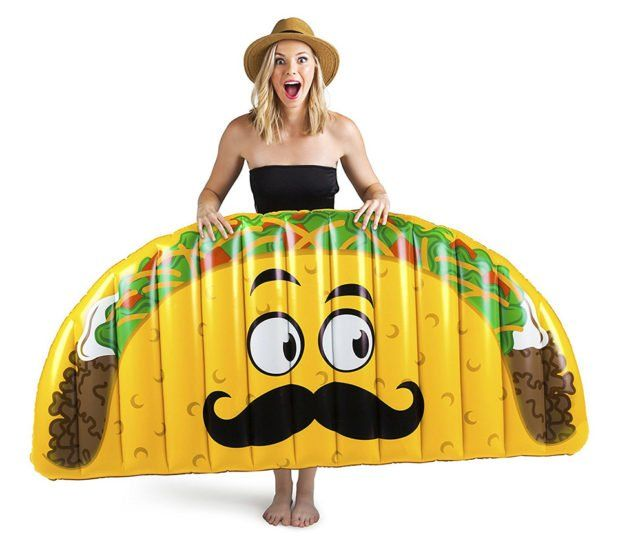 Lets Taco Bout This Goofy Pool Float In 2020 Pool Float Pool Floats Pool Canopy