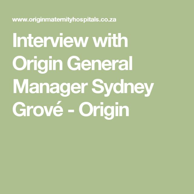 Interview with Origin General Manager Sydney Grové - Origin