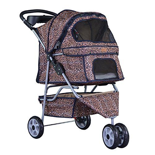 Easy Fold, - opens and folds in 5 seconds! Large storage basket and cup holders keep toys, treats, and water bottles handy Front and Rear Entry