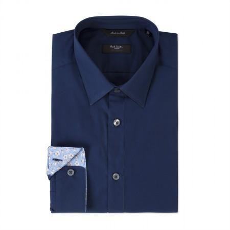 Paul Smith Men's Shirts - Navy Contrast Cuff Byard Shirt