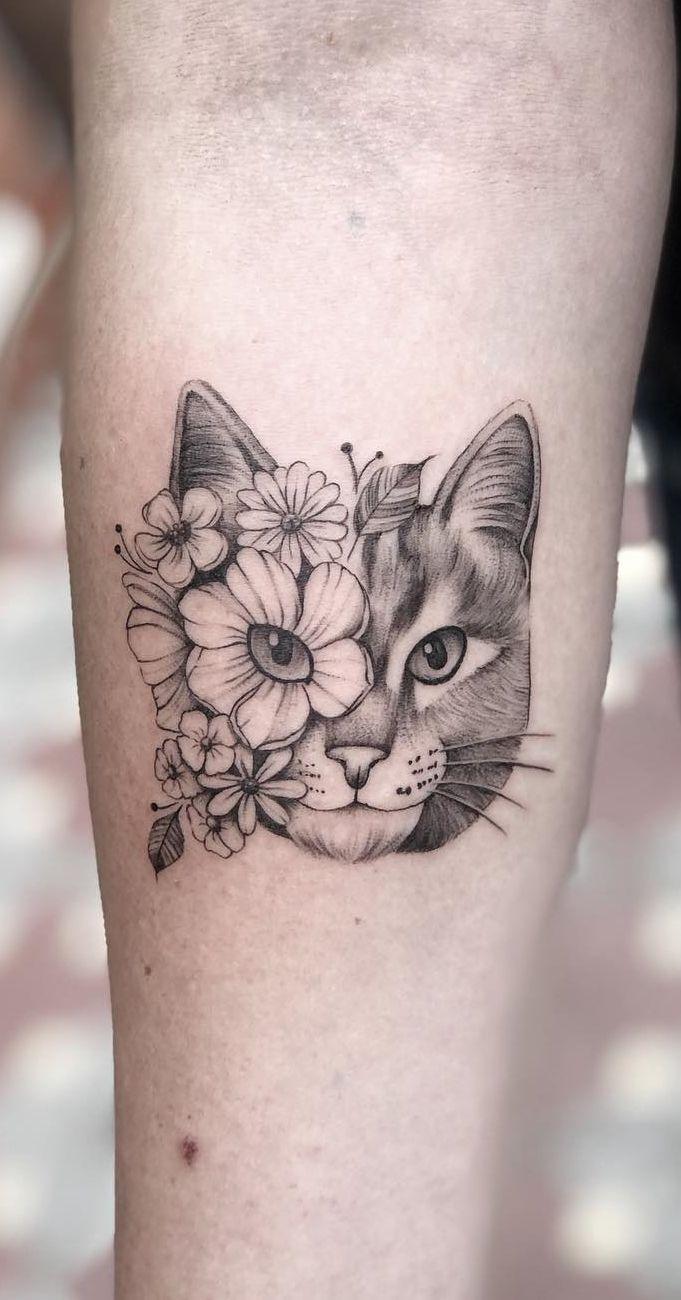 As 100 Melhores Tatuagens de Gatos da internet!   TopTatuagens   Tatuagem,  Tatuagens, Desenhos de tatuagem de gato