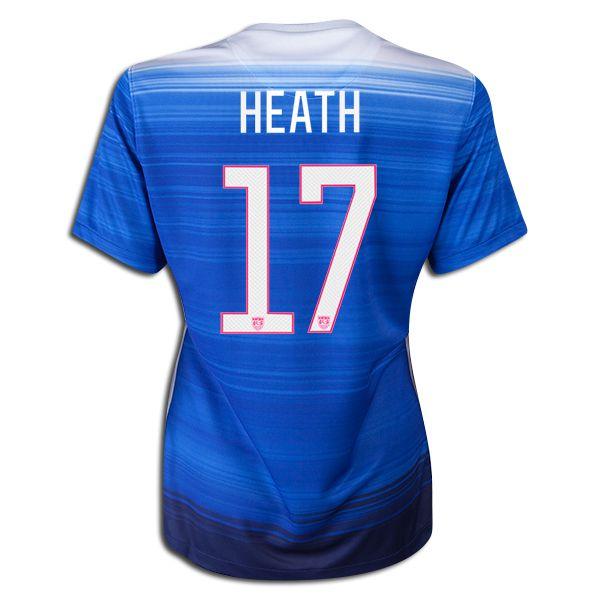 2015 FIFA Women's World Cup USA Tobin Heath 17 Women Away Soccer Jersey