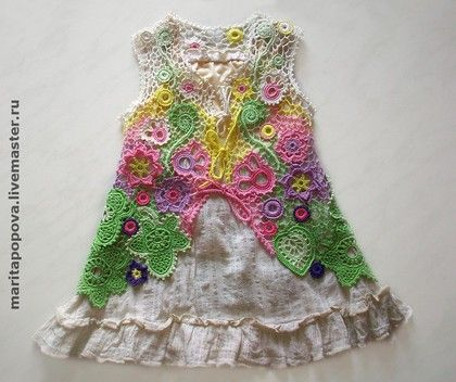 "Baby irish crochet dress fatti a mano ""Summer Day"".  Handmade."