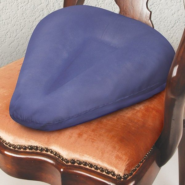 A unique therapeutic sciatica pillow seat cushion, designed to take the weight off your thighs and bottom, helping to eliminate sharp radiating pain in the lower back, spine, and legs also known as sc