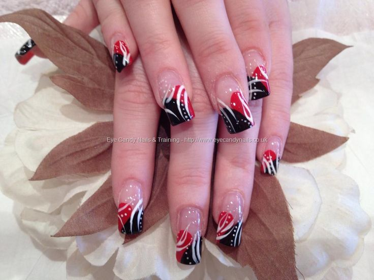 19 best black n red nails images on pinterest nail designs diy eye candy nails training red and black freehand nail art by elaine moore on 1 may 2012 at prinsesfo Images