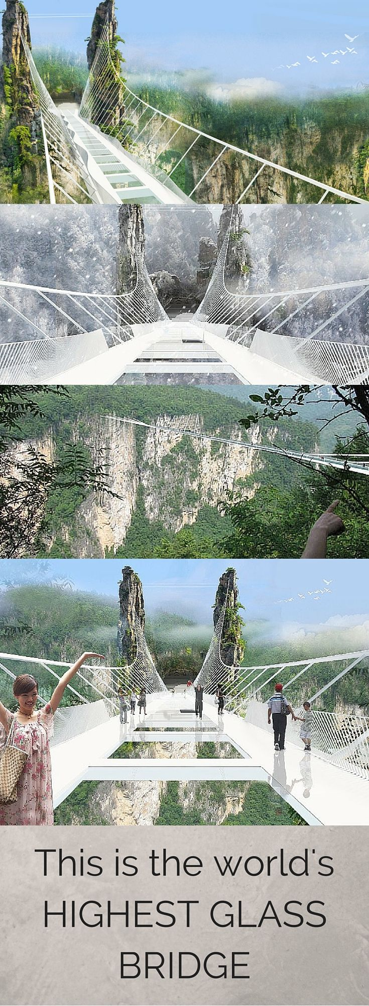 This is the world's highest and longest glass bridge. Read more online at m2woman.co.nz