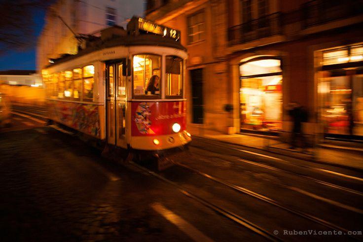 Lisbon tram. Portugal