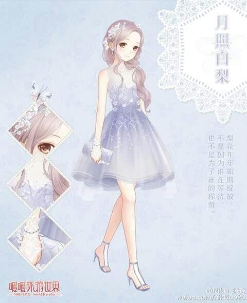 Robe de soirée Nikki Fille manga, Dessin kawaii et