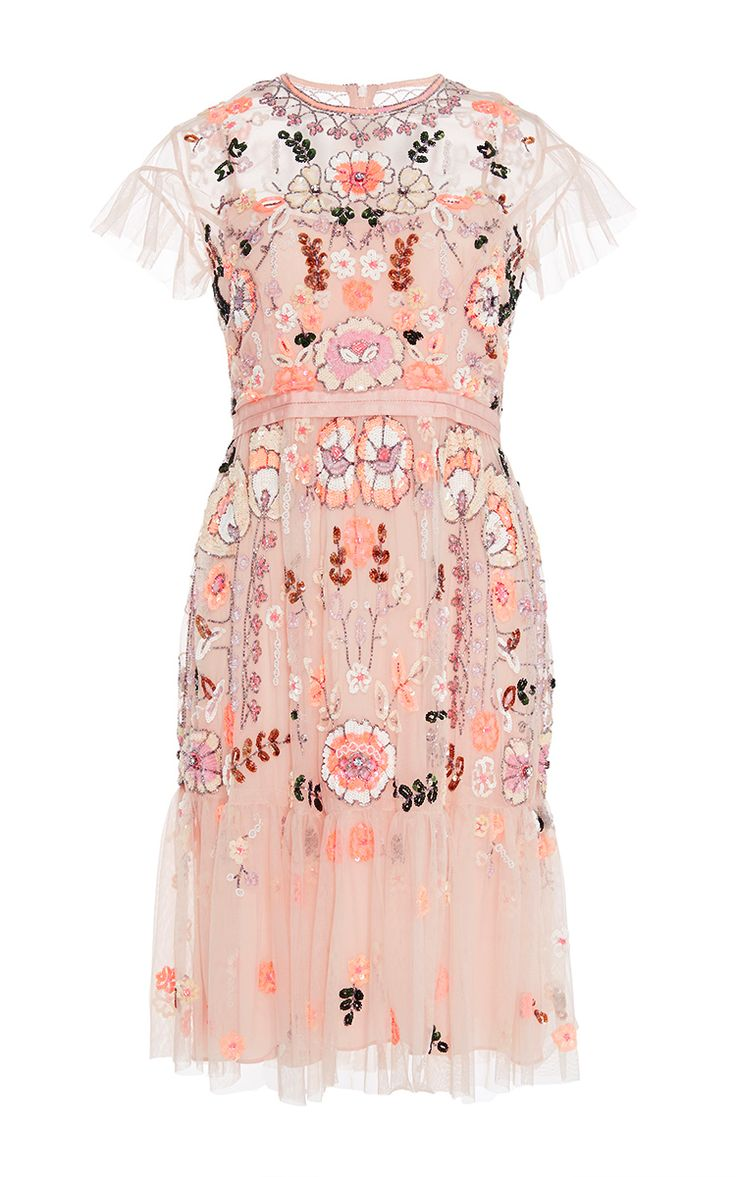 Floral Embroidered Tiered Dress by NEEDLE & THREAD Now Available on Moda Operandi