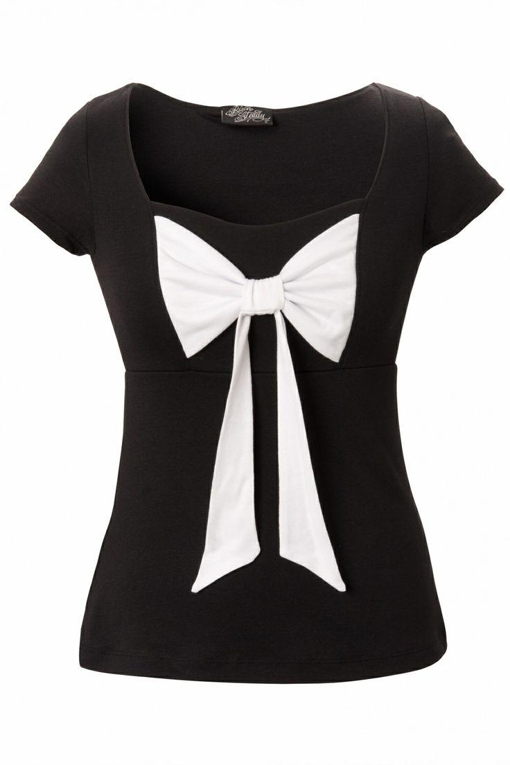 Rock Steady Clothing - Rock Steady Clothing - Sweetheart Bow Top Black