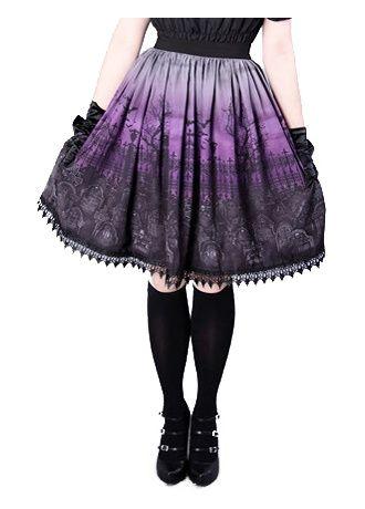 Restyle Cemetery Gothic Lolita Skirt