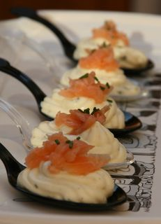 Cuillère mousse boursin saumon fumé