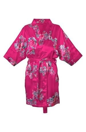 A luxuriant satin robe flaunts a vibrant floral print. The smooth style is detailed with a single initial, making it a perfect bridal shower or wedding present. Color(s): pink - a, pink - b, pink - c, pink - d, pink - e, pink - f, pink - g, pink - $58.00 by nordstrom