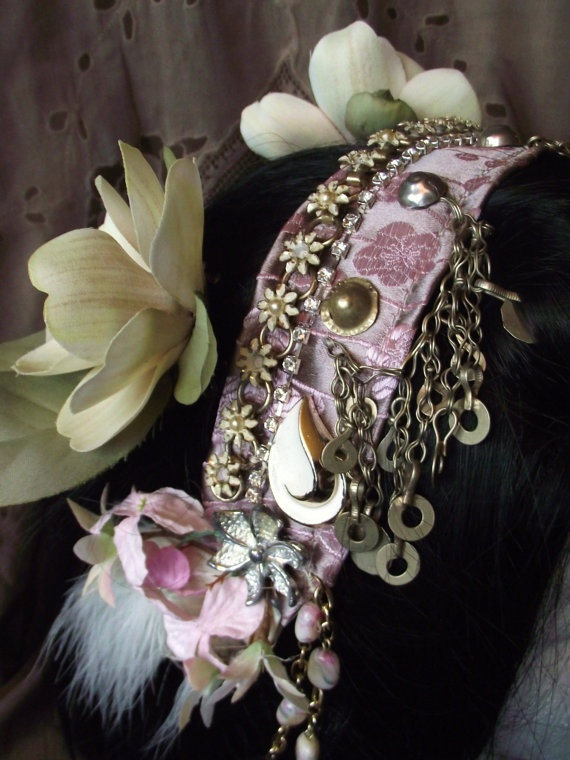 tribal fusion bellydance costume headdress