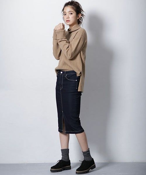 【ZOZOTOWN 送料無料】nano・universe(ナノユニバース)のデニムスカート「裏起毛デニムタイトスカート」(9999165110380)をセール価格で購入できます。