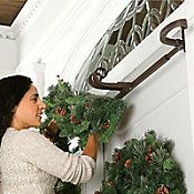 Doorway Garland Hanger-Double - hang garland without nails or hooks