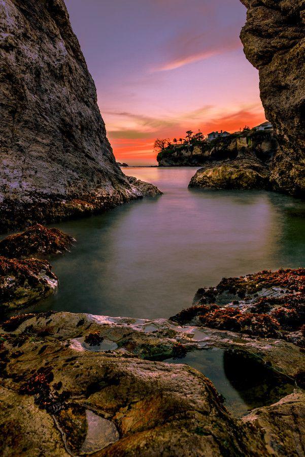~~Sunset in Cave | Shell Beach - Pismo Beach, California by Lou Lu~~
