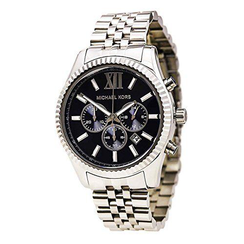 Michael Kors Men's Chronograph Lexington Stainless Steel Bracelet Watch 45mm MK8280 Check https://www.carrywatches.com