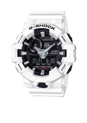 G-Shock White Mens White and Black Ana-Digi G-Shock Watch