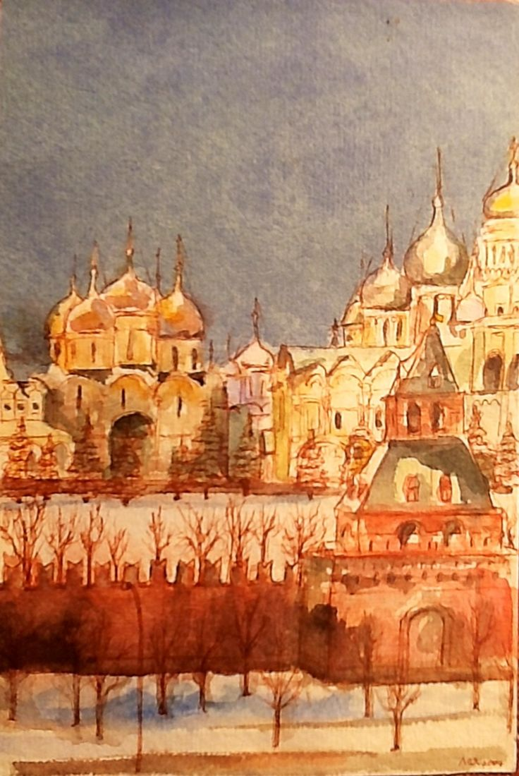 Moscow Sketch  Watercolor and ink  By Leah Klagge