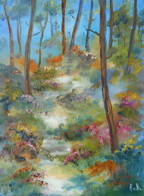 Hey, I found this really awesome Etsy listing at https://www.etsy.com/listing/249842813/painting-a-little-way-in-the-forest