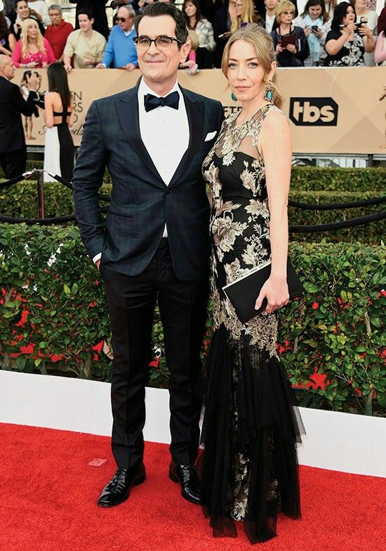 Ty Burrell and his wife molly Sag awards 2016