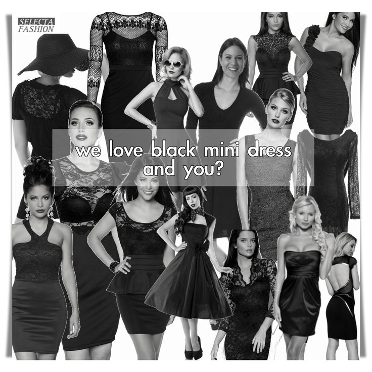 we love black mini dress and what about you?