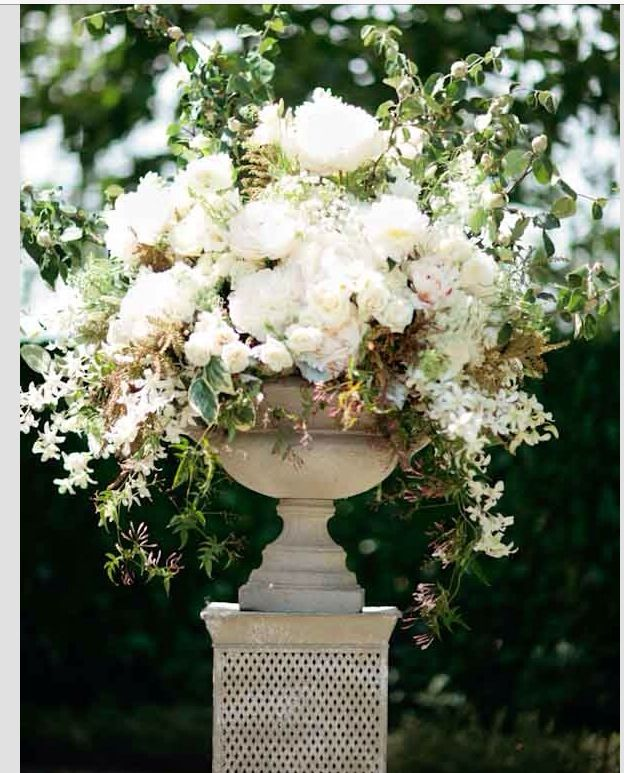 Wedding Altar Pedestal: Pedestal Flower Arrangement