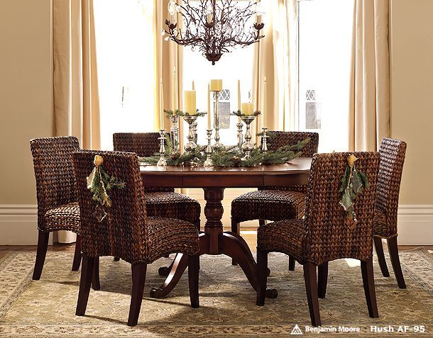 Pottery Barn Kirkwood Pedestal Dining Table And Seagrass Chairs Part 78