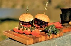 Ostrich burgers are a tasty alternative to beef burgers.