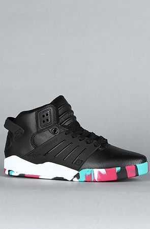 The Skytop III Sneaker in Black Tumbled Action Leather by SUPRA
