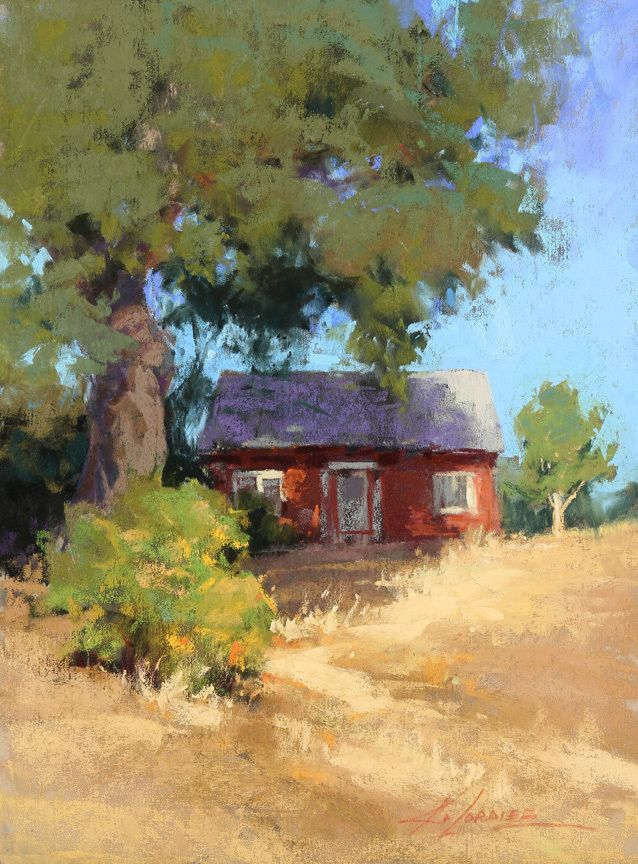 All Tucked In, Paso Robles by Kim Lordier Pastel ~ 12 x 9