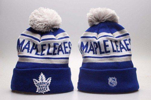 Toronto Maple Leafs Winter Outdoor Sports Warm Knit Beanie Hat Pom ... c723cf56016b