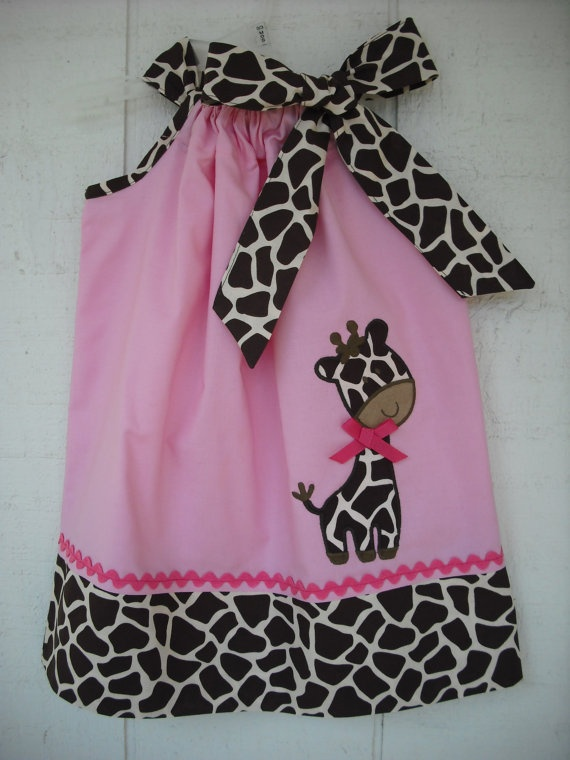 Cute Giraffe Pillowcase Dress by MyDaughtersShop on Etsy, 28.00