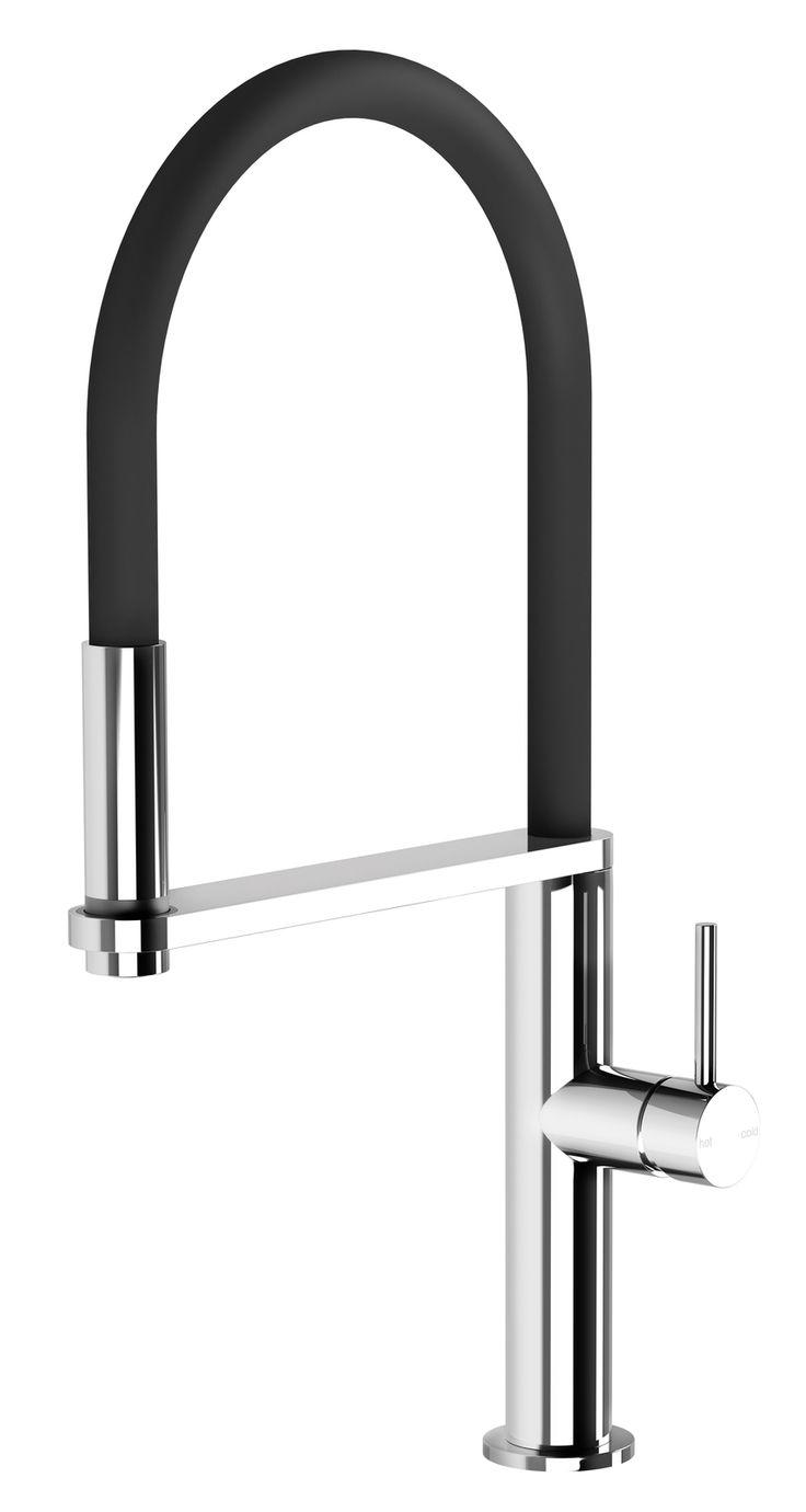 Ceramic bathroom tile acquerelli shower fixtures for sale too - Phoenix Tapware Blix Flexible Hose Kitchen Sink Mixer Tap Chrome