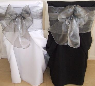 Last Chance .50 chair cover .25 sash 5.00 Table Cloths until Summer 2012 :  wedding Silver Organza
