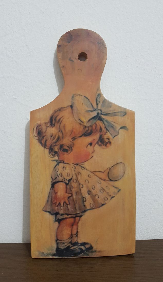 Image transfer on wooden cutting board