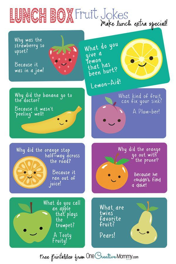 Lunch Box Jokes {Fruit Jokes} Free #Printables for #backtoschool! {OneCreativeMommy.com}