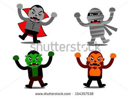 Illustration vector graphic of Halloween Monster Cartoon Character.