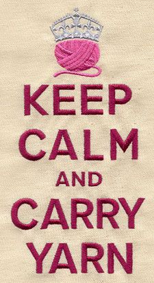 really... carry yarn always embroider on a knitting bag