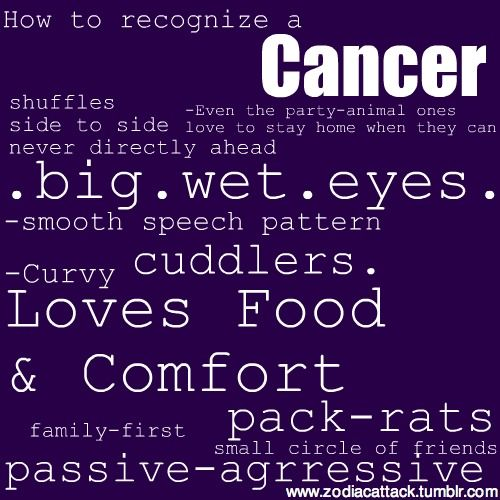 How to recognize a Cancer. Find in-depth info on Zodiac Sign Cancer personality & traits @ http://www.buildingbeautifulsouls.com/zodiac-signs/western-zodiac/cancer-star-sign-traits-personality-characteristics/