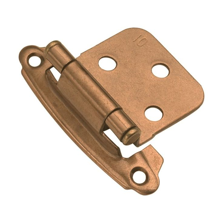 Hickory Hardware P244 Steel Flush Hinge From The Surface Self Closing  Collection Satin Bronze Cabinet
