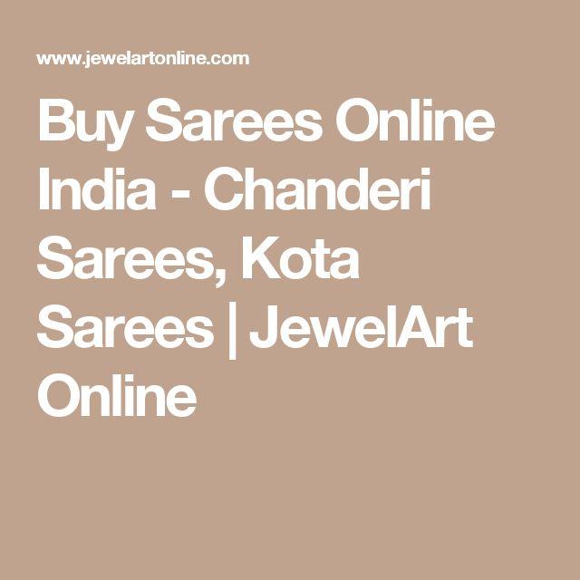 Buy Sarees Online India - Chanderi Sarees, Kota Sarees | JewelArt Online