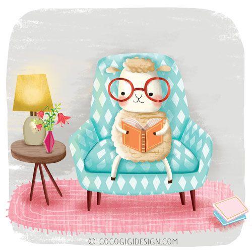Coco Gigi Design: Sheep in glasses