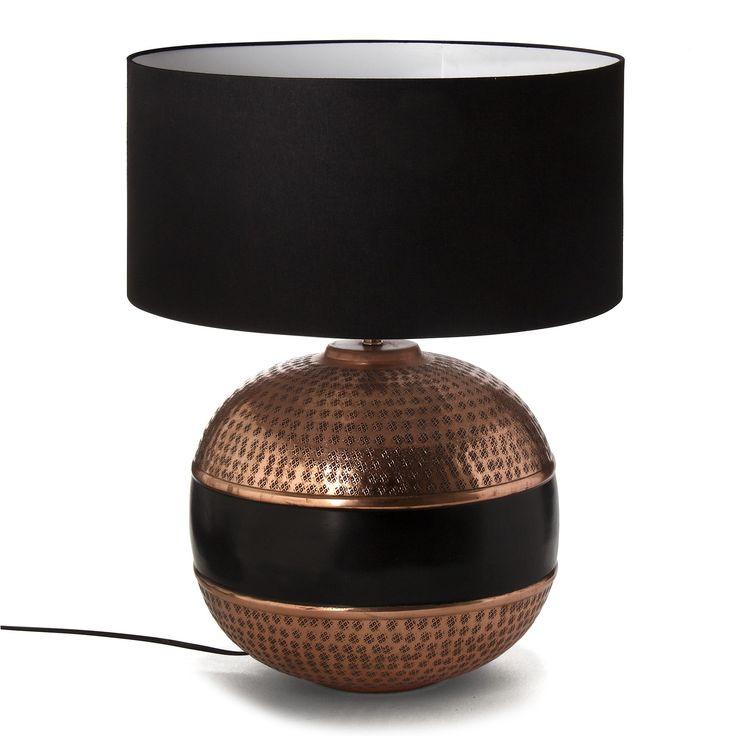 mahara lampe avec abat jour alu cuivre h56cm cuivre noir alin a d coration pinterest. Black Bedroom Furniture Sets. Home Design Ideas