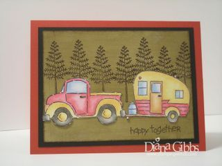 Camper card by Diana Gibbs