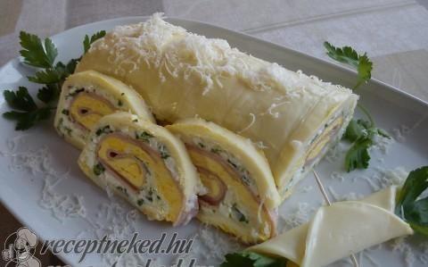 Sonkás sajttekercs recept fotóval